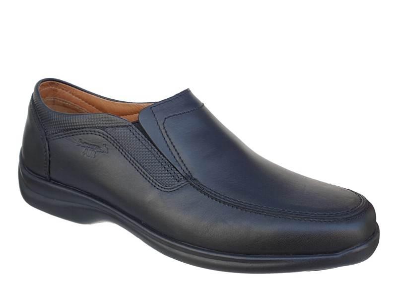 Ανδρικά παπούτσια Boxer shoes air 16118 14-111 Μαύρα Μοκασίνια