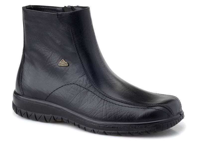 Boxer shoes 14730  18-111 | Ανδρικά Μποτάκια| Δερμάτινα Ημίμποτα Φερμουάρ