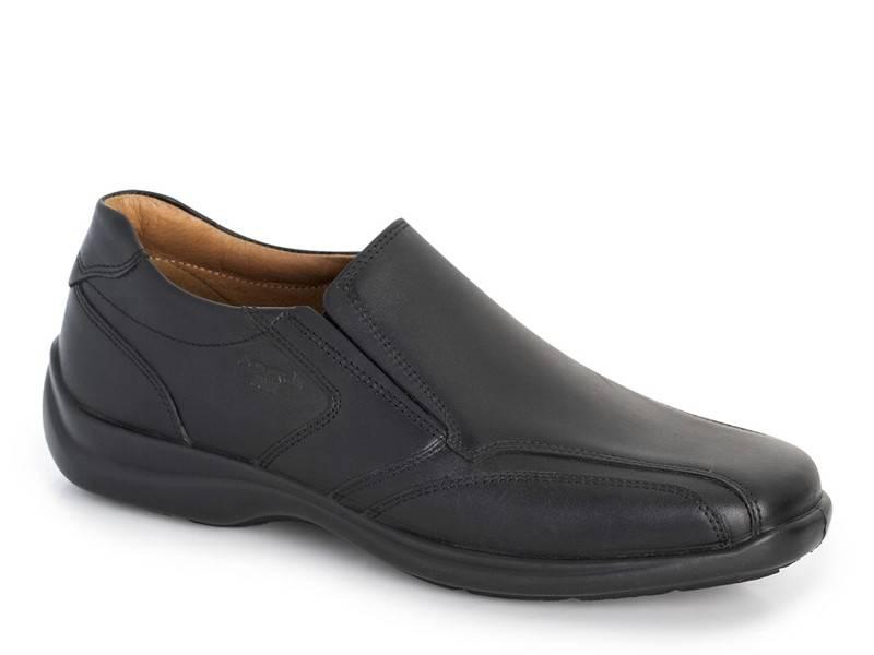 Ανδρικά παπούτσια Boxer shoes air 16122 14-111 Μαύρα Μοκασίνια