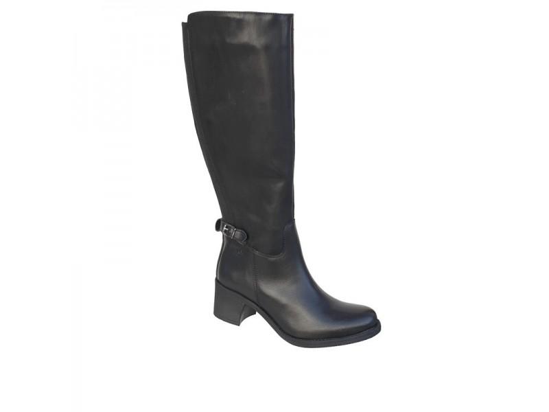 Boxer soft 93033 10-011   Μαύρες Δερμάτινες Γυναικείες Μπότες