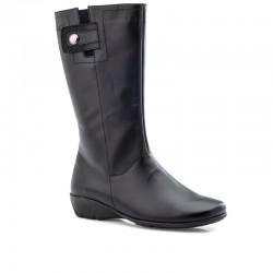 Ελαφριές, Δερμάτινες, Γυναικείες Μπότες | Boxer 52878 10-011