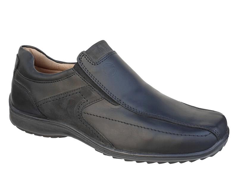 Ανδρικά Παπούτσια Aeropelma 643 Μαύρα | Casual Δερμάτινα Μοκασίνια