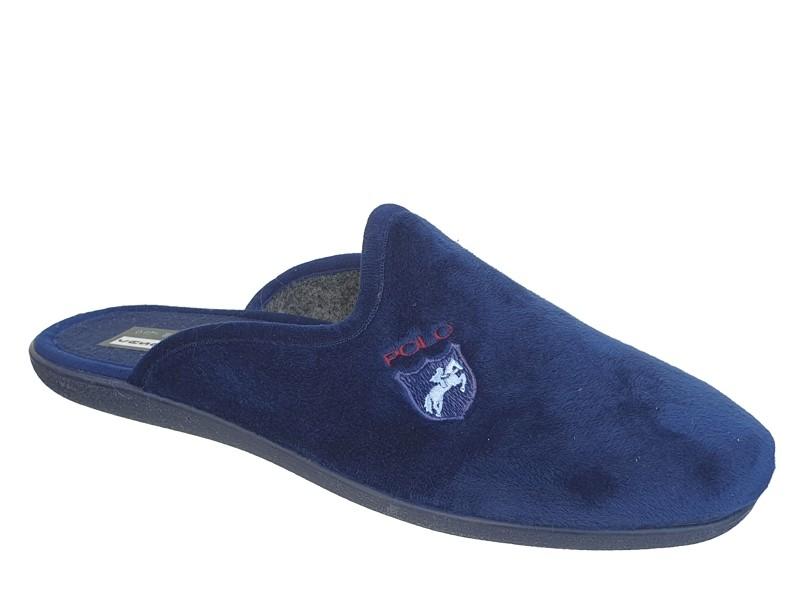 Sival 019 Μπλε Polo    Ανδρικές Χειμερινές Παντόφλες