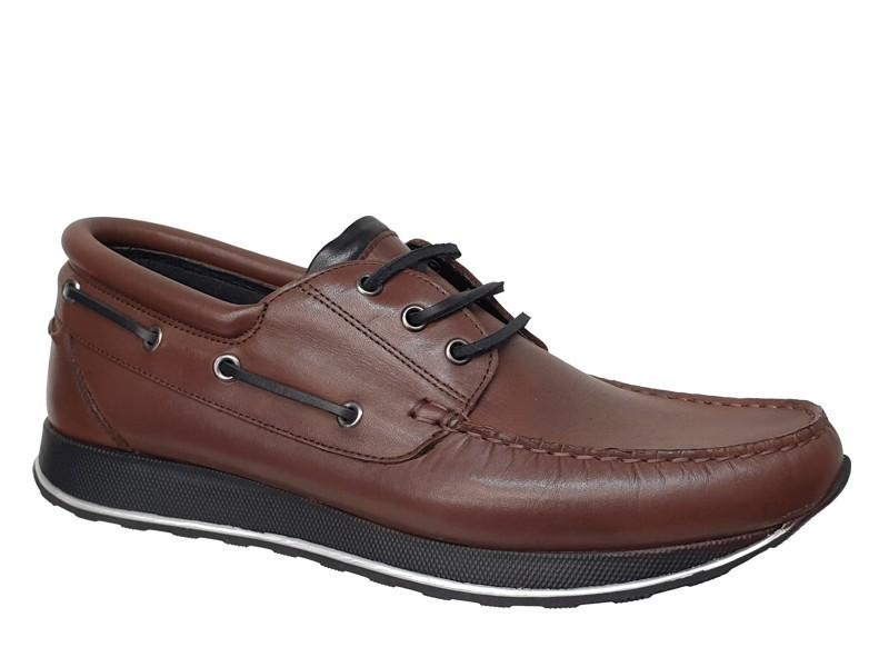 Spor Ανδρικά Δερμάτινα Παπούτσια   Gallen shoes 250 Καφέ