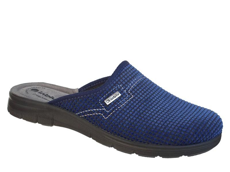 INBLU BG000034 Μπλε | Ανατομικές Χειμερινές Ανδρικές Παντόφλες