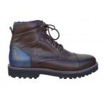Kricket shoes 3200   Καφέ Ανδρικά μποτάκια Κορδόνια - Φερμουάρ
