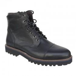 Kricket shoes 3200 | Μαύρα Ανδρικά μποτάκια Κορδόνια - Φερμουάρ