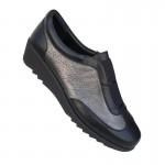 Γυναικεία Σπορ Δερμάτινα Παπούτσια | Relax anatomic 7329-133  Μαύρo-Cassiopeia