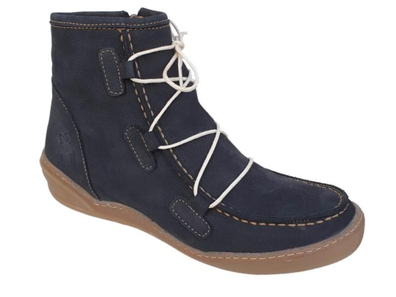 Μοντέρνα Γυναικεία Ανατομικά Μποτάκια | SAFE STEP 19508 Μαύρο ( Blue black)