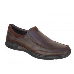 SOFTIES 6984 Καφέ Ανδρικά Παπούτσια