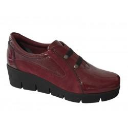 Γυναικεία Παπούτσια | SOFTIES 7144 Μπορντό Μοκασίνια Λουστρίνι