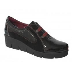 Γυναικεία Παπούτσια | SOFTIES 7144 Μαύρα Μοκασίνια Λουστρίνι