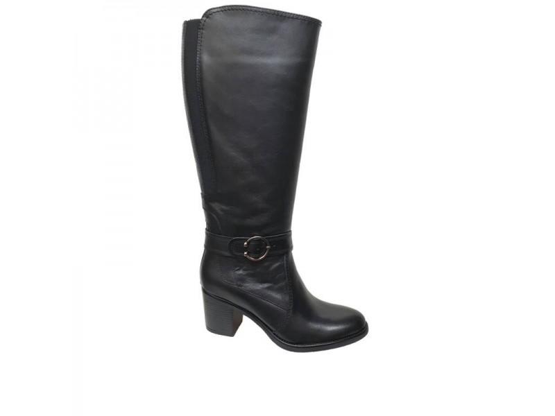Δερμάτινες Γυναικείες Μπότες | SOFTIES 7174 Μαύρο