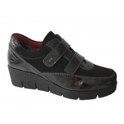 SOFTIES 7986 Μαύρα Γυναικεία Παπούτσια