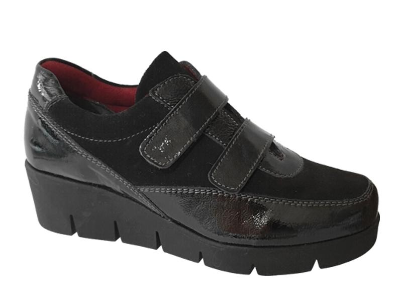 SOFTIES 7986 Μαύρα - Γυναικεία Παπούτσια | Καστόρι - Λουστρίνι