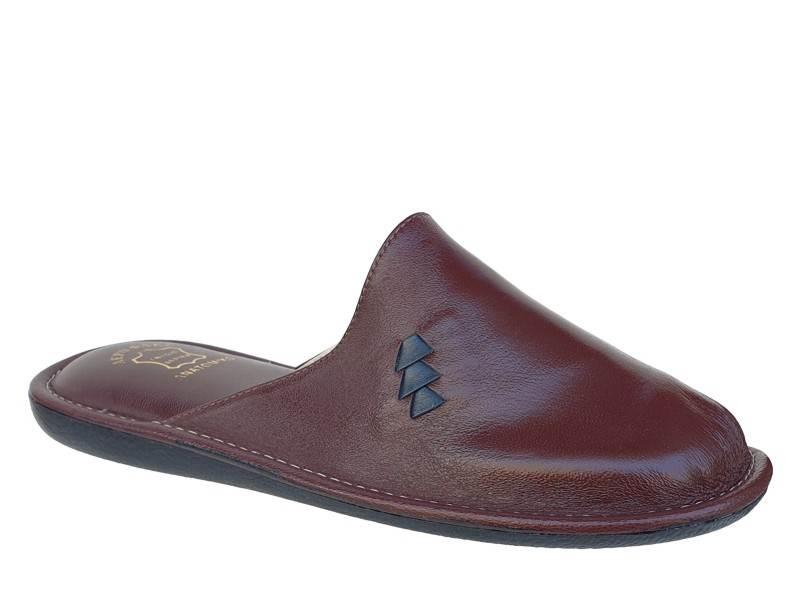 Zak shoes - Fame 5066 | Μπορντό Ανδρικές Δερμάτινες Παντόφλες