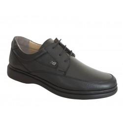 S&M Comfort shoes 207 Μαύρα Ανδρικά Σκαρπίνια