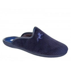 Adam's 624-20528 Μπλε καρώ Ανδρικές Παντόφλες