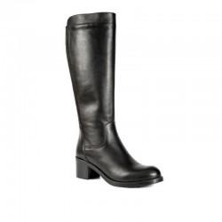 Boxer 94011 10-011   Μαύρες Δερμάτινες Γυναικείες Μπότες