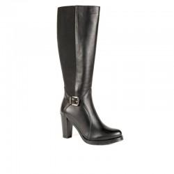 Boxer 94008 10-011   Μαύρες Δερμάτινες Γυναικείες Μπότες