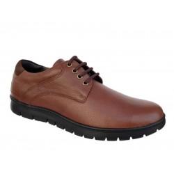 SOFTIES 6157 Καφέ Ανδρικά Παπούτσια