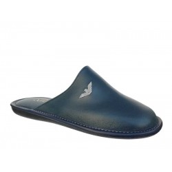 Aeroflex 1545 Μπλε Δερμάτινες Ανδρικές Παντόφλες