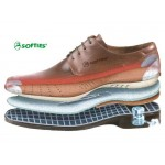 Ανδρικά δερμάτινα δετά παπούτσια | SOFTIES 6968 Μπλε