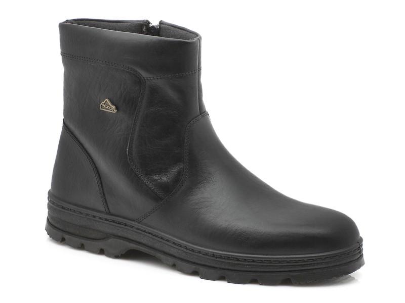 Ανδρικά Δερμάτινα Μποτάκια Φερμουάρ | Boxer shoes 01091 18-111 Μαύρα