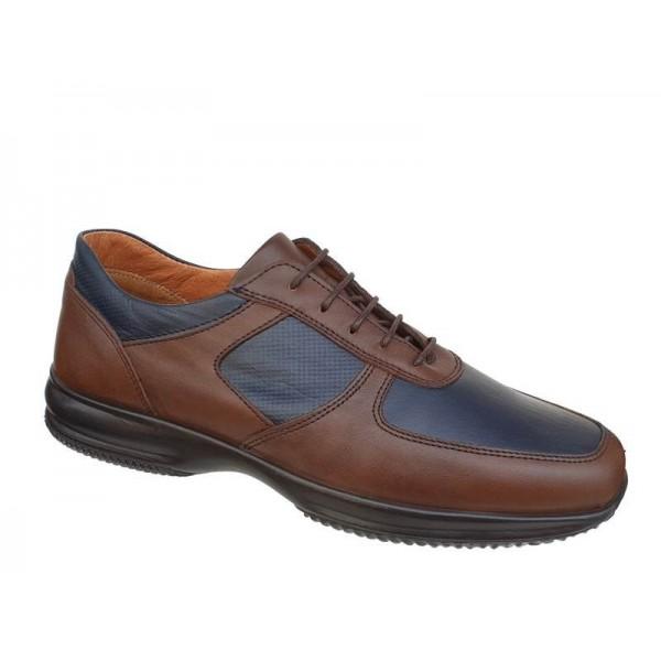 Ανδρικά Παπούτσια Boxer 12098 12-016 Καφέ - Μπλε Σκαρπίνια