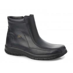 Ανδρικά Παπούτσια | Boxer 14726 14730 18-111 Μαύρο | Μποτάκια Δερμάτινα Ημίμποτα