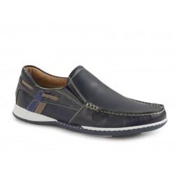 Boxer shoes 21120 12-016 Μπλε Boat Ανδρικά Μοκασίνια