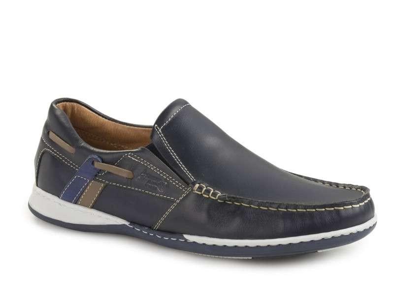 Ανδρικά Παπούτσια Boxer shoes 21120 12-016 | Μπλε Boat Μοκασίνια