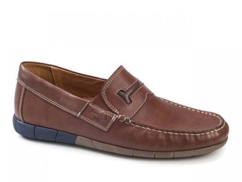 Ανδρικά Παπούτσια Boxer 21149 12-519 Ταμπά Δερμάτινα Μοκασίνια