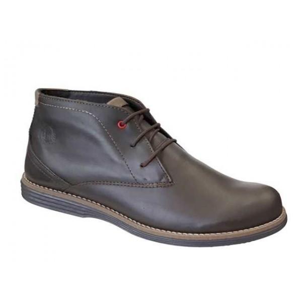 Ανδρικά Παπούτσια Boxer 41050 13-314 Καφέ Casual Δερμάτινα Ημίμποτα