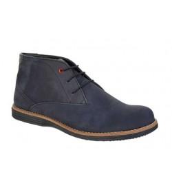 Ανδρικά Παπούτσια Boxer 41050 34-011 Μαύρο (Blue-black) Δερμάτινα Μποτάκια