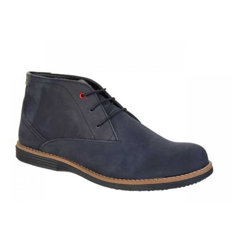 62e261bab09 -38% Ανδρικά Παπούτσια Boxer 41050 34-011 Μαύρο (Blue-black) Δερμάτινα  Μποτάκια
