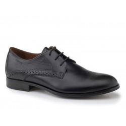 Ανδρικά Παπούτσια Boxer 41061 10-811 Μαύρα Αμπιγέ Δερμάτινα Σκαρπίνια