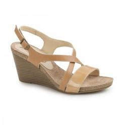 Γυναικεία Παπούτσια Boxer 82547 50-105 Κάμελ Δερμάτινα Πέδιλα