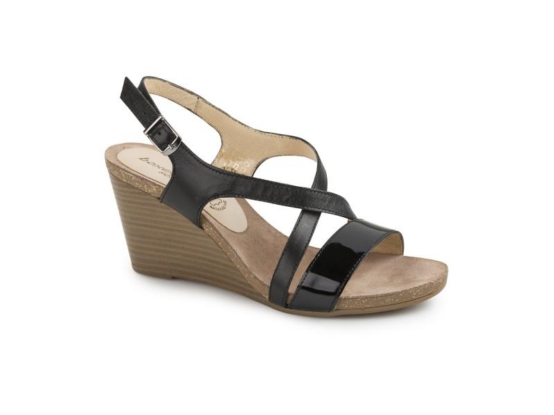 Γυναικεία Παπούτσια Boxer 82547 50-111 Μαύρα Δερμάτινα Πέδιλα