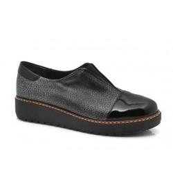 Δερμάτινα Παπούτσια Boxer 52774 50-751  Μαύρα Γυναικεία Μοκασίνια
