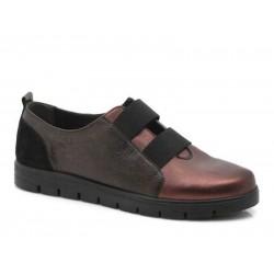 Γυναικεία Παπούτσια Boxer soft 52783 17-128 Μελιτζανί Δερμάτινα Μοκασίνια