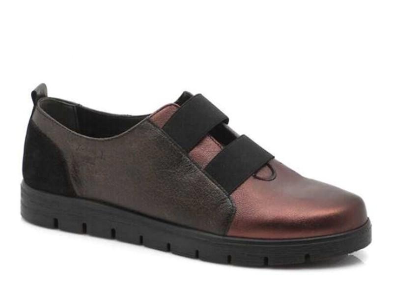 Γυναικεία Παπούτσια Boxer 52783 17-128 Μελιτζανί Δερμάτινα Μοκασίνια
