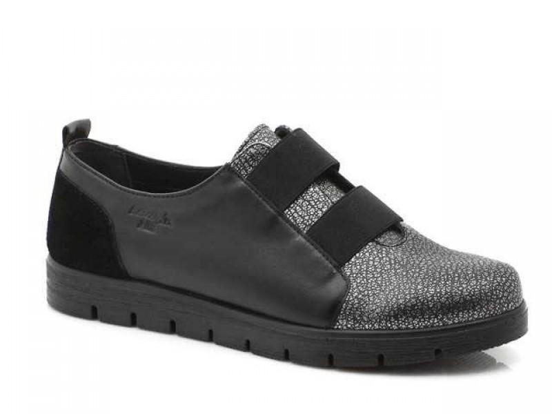 Γυναικεία Παπούτσια Boxer 52783 50-751  Μαύρα Δερμάτινα Μοκασίνια