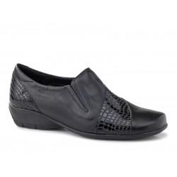 Γυναικεία Παπούτσια Boxer soft 52827 17-011 Μαύρα Δερμάτινα Μοκασίνια