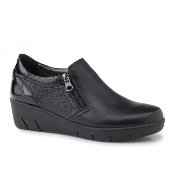 Γυναικεία Παπούτσια Boxer 52842 17-011 Μαύρα Δερμάτινα Μοκασίνια