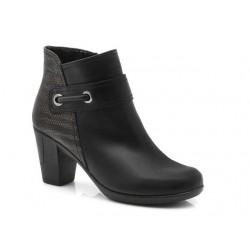 Γυναικεία Παπούτσια Boxer 58764 10-011 Μαύρα Δερμάτινα Μποτάκια