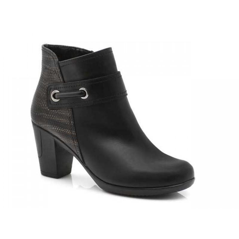 2a2da0ad25 -33% Γυναικεία Παπούτσια Boxer 58764 10-011 Μαύρα Δερμάτινα Μποτάκια
