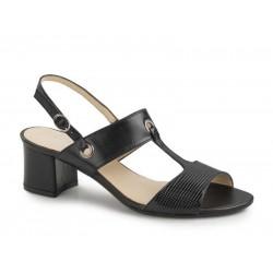 Δερμάτινα Παπούτσια Boxer 59016 17-011 Μαύρα Γυναικεία Πέδιλα