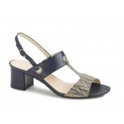 Γυναικεία Παπούτσια Boxer 59016 17-016 Μπλε Δερμάτινα Πέδιλα