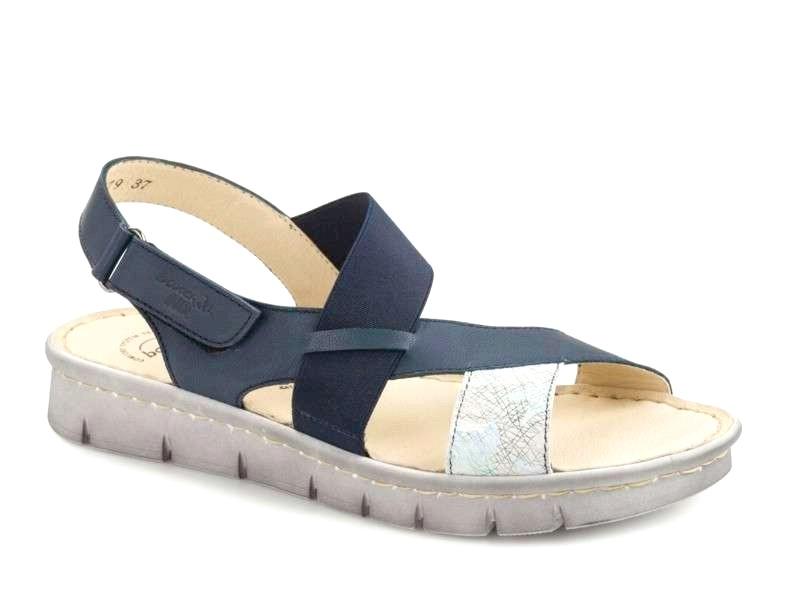Δερμάτινα Παπούτσια Boxer 82579 17-316 Μπλε Γυναικεία Πέδιλα